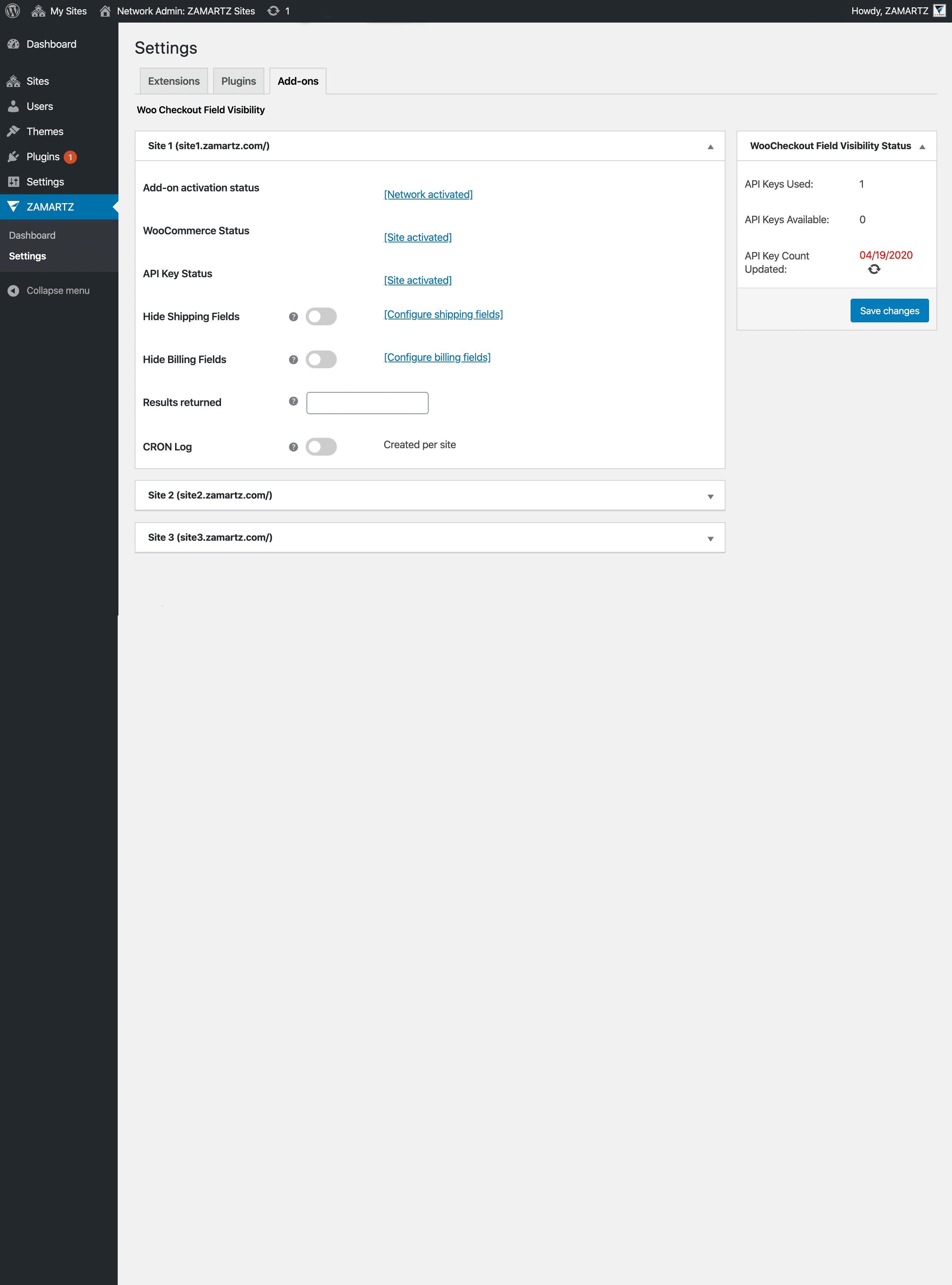 12 Paid Network Settings AddOn