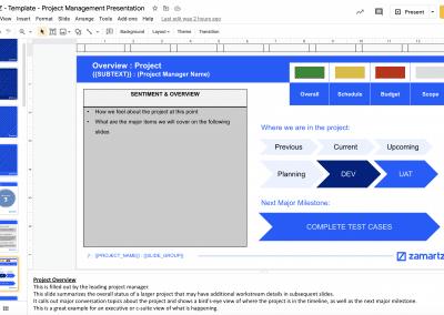 zamartz project management-presentation-deck project overview slide